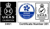 UKAS 0461 Logo, ISO 9001 Logo