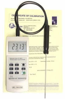 [ Ref-Therm Digital Thermometers with Probes - UKAS Calibrated ]